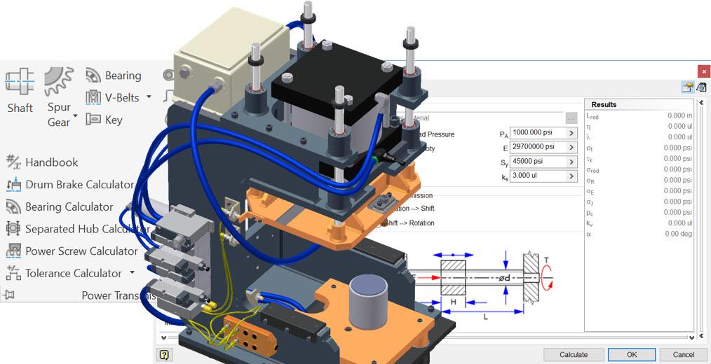 Inventor-Machine Component Design