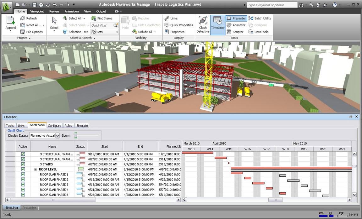 Navisworks-4D Simulation